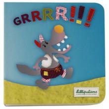 Mini livre Grrrrr Nicolas le loup  par Lilliputiens