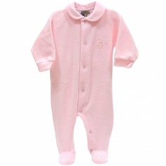 Pyjama chaud rose (1 mois : 56 cm)