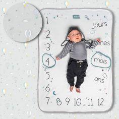 Couverture étapes de bébé Pastel grey