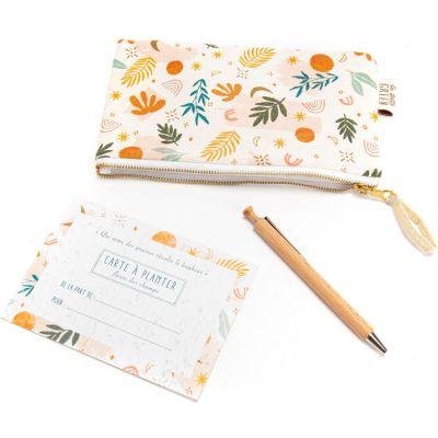 Kit carte à planter, pochette et stylo  par Amadeus Les Petits