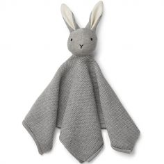 Doudou plat Milo lapin gris