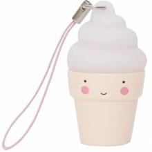 Charm cornet de glace blanc  par A Little Lovely Company