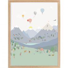 Affiche encadrée Montagne (30 x 40 cm)  par Mimi'lou