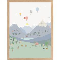 Affiche encadrée Montagne (30 x 40 cm)