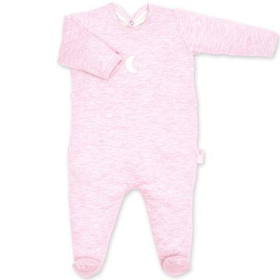 Pyjama léger jersey Bmini rose à points cristal (3-6 mois : 60 à 67 cm)  par Bemini