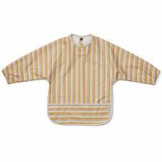 Bavoir à manches Merle Stripe Peach/sandy/yellow mellow