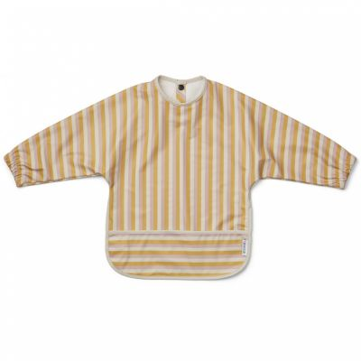 Bavoir à manches Merle Stripe Peach/sandy/yellow mellow  par Liewood