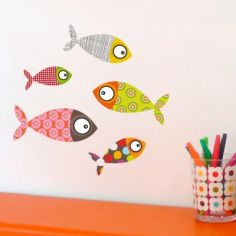 Stickers 5 petits poissons