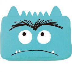 Trousse scolaire Monstre triste bleu