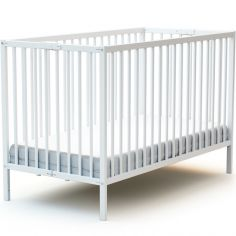 Lit pliable en bois de hêtre Webaby blanc (60 x 120 cm)