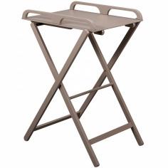 Table à langer pliante Jade en bois massif laqué taupe
