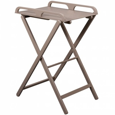 Table à langer pliante Jade en bois massif laqué taupe  par Combelle