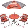 Ensemble table et chaises avec parasol Cars (4 pièces) - Room Studio