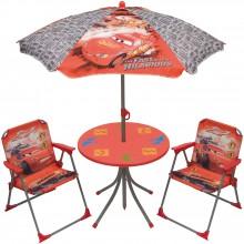 ensemble table et chaises avec parasol cars 4 pi ces. Black Bedroom Furniture Sets. Home Design Ideas