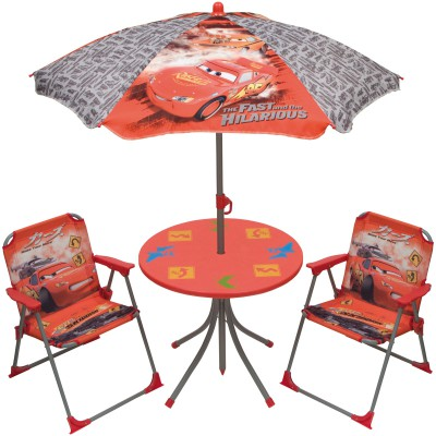ensemble table et chaises avec parasol cars 4 pices. Black Bedroom Furniture Sets. Home Design Ideas