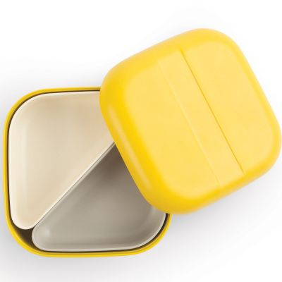 Lunch box en bambou Bento Go Square jaune citron
