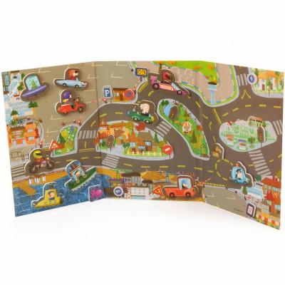 jeu de voiture aimant city miniland berceau magique. Black Bedroom Furniture Sets. Home Design Ideas