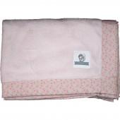 Couverture bébé en tissu doudou Starfly rose poudré (75 x 100 cm) - Les Petits Vintage
