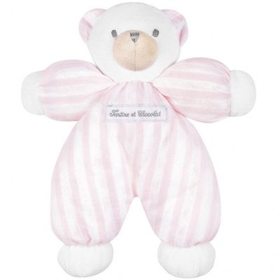 Peluche ours rose Collection 1977 (25 cm)  par Tartine et Chocolat