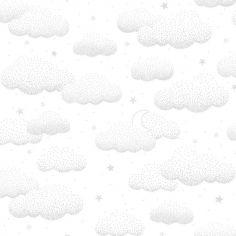 Papier peint intissé Stardust nuages gris (10 m)