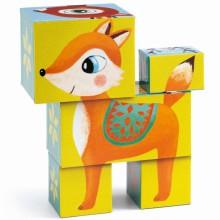 Puzzle cube Animaux des bois (5 pièces)  par Djeco