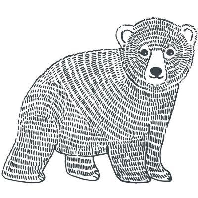 Grand sticker ours (47 x 40 cm)  par Lilipinso