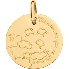 Médaille Tout commence par un rêve 16 mm (or jaune 750°)