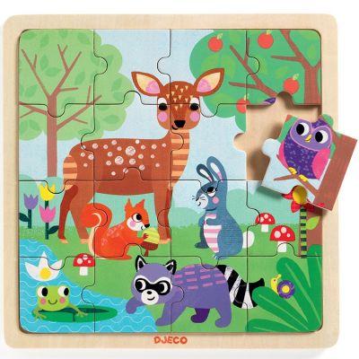 Puzzle animaux de la forêt (16 pièces)  par Djeco