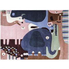 Tapis puzzle animaux safari 2 (120 x 140 cm)