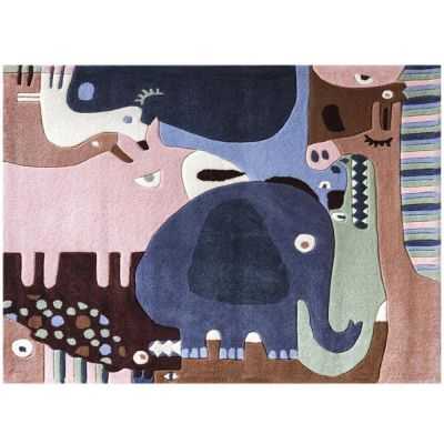Tapis puzzle animaux safari 2 (120 x 140 cm)  par Art for Kids