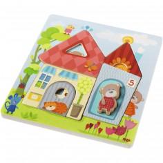Puzzle en bois La maison des oursons