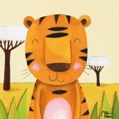 Tableau Moka le tigre by Melie Melane (40 x 40 cm) - Lilipinso