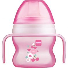 Tasse à bec souple fleur rose (150 ml)