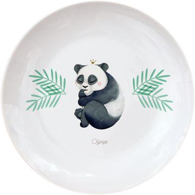 Assiette en porcelaine Panda (personnalisable)  par Gaëlle Duval