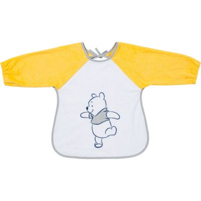 Bavoir à manches en éponge à nouer Winnie l'ourson jaune  par Babycalin
