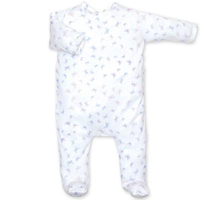 Pyjama léger jersey Lovmi parme jasmin (3-6 mois : 60 à 67 cm)  par Bemini