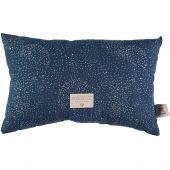 Coussin rectangulaire Laurel Gold bubble Night blue (22 x 35 cm) - Nobodinoz