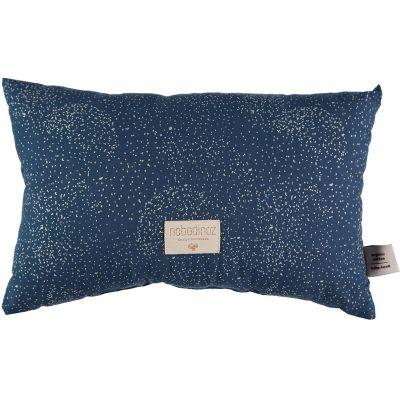 Coussin rectangulaire Laurel Gold bubble Night blue (22 x 35 cm)  par Nobodinoz