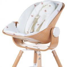 Coussin réducteur naissance pour chaise haute Evolu Newborn Jersey coeurs dorés