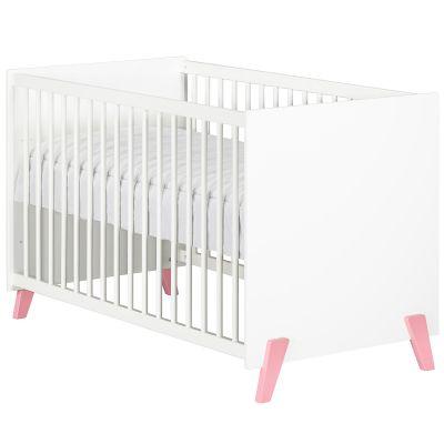 Lit à barreaux Joy rose (60 x 120 cm)  par Baby Price