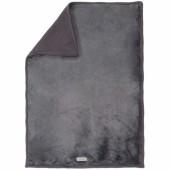Couverture tricoloudoux Poudre d'étoiles gris (100 x 140 cm) - Noukie's