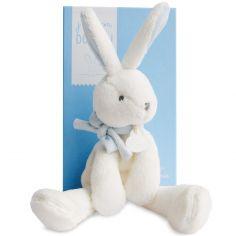 Peluche lapin chic J'aime mon doudou bleu (30 cm)