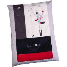 Housse de couette et taie d'oreiller Mister Bouh (100 x 135 cm)