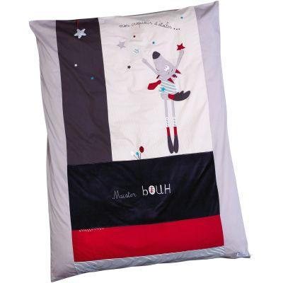 Housse de couette et taie d'oreiller Mister Bouh (100 x 135 cm)  par Sauthon