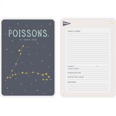 Affiche signe astrologique Poissons (21,4 x 32,5 cm)