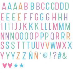 Assortiment de lettres pastel pour lightbox