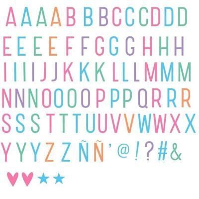 Assortiment de lettres pastel pour lightbox  par A Little Lovely Company