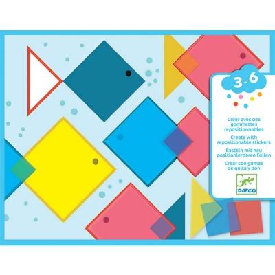 Atelier de gommettes Des carrés magiques Djeco