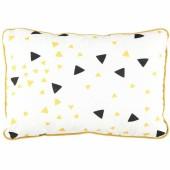 Coussin rectangulaire Jack Confettis noir et jaune miel (23 x 34 cm) - Nobodinoz