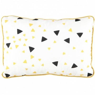 coussin rectangulaire jack confettis noir et jaune miel 23 x 34 cm par nobodinoz. Black Bedroom Furniture Sets. Home Design Ideas
